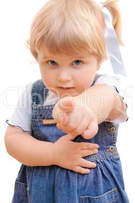Девочка показала мальчику своими руками