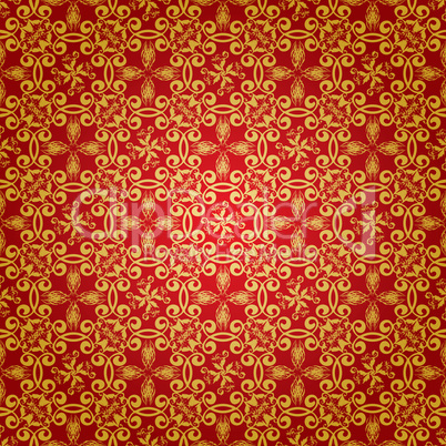 Red and gold wallpaper designs