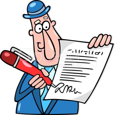 Подписать документы рисунок