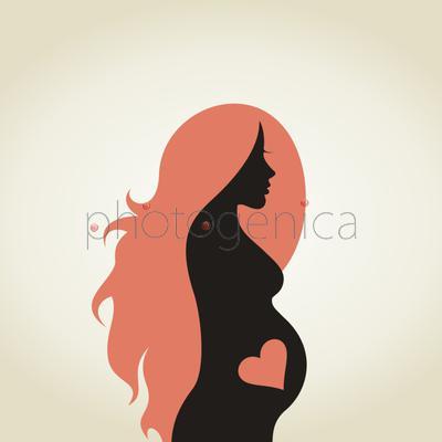 Красивые картинки беременных девушек нарисованные 42